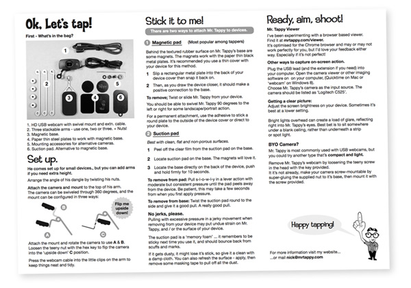 View Mr. Tappy's instructions in a PDF.